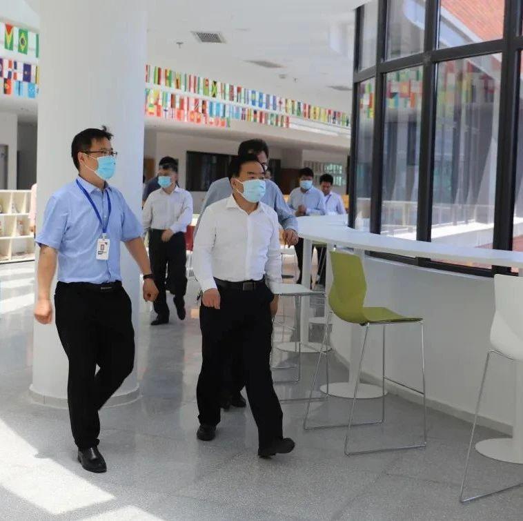 济南市教育局局长王品木到济南新航实验外国语学督查复学复课和安全工作